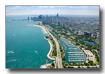 Diversey Harbor & the Chicago Skyline