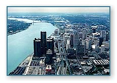 Detroit Skyline to the south