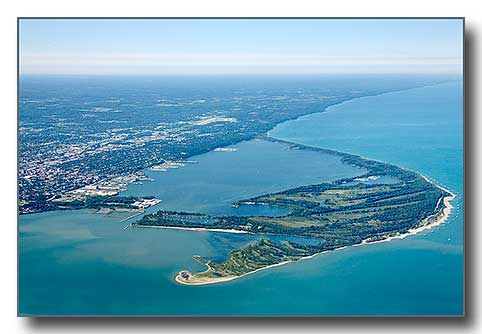 Presque Isle and Erie, PA Aerial Photo