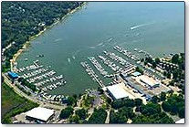 Aerial Photo of the Yacht Basin Marina