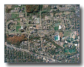 Aerial Photos of Lansing, MI and Michigan State University