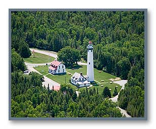 New Presque Isle Lighthouse aerial photo