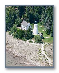 Old Presque Isle Lighthouse aerial photo