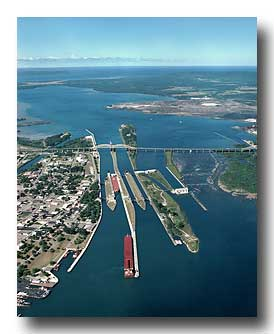 Soo Locks east to west